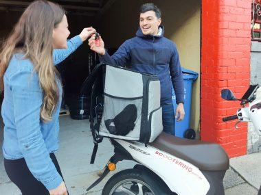 Scooter rental service for Uber Eats in Sydney or Melbourne